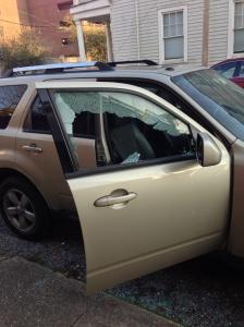My Sad Broken Into Car
