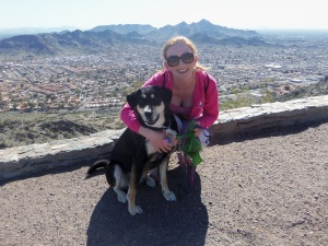 Choppy and Sarah at North Mountain Summit