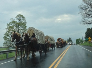 """As I rolled into the town where I got the tire fixed, I saw these guys. I think they are war re-enactors, but I'm not ruling out gypsies (though obviously not the kind on """"My Big Fat Gypsy Wedding,"""" the old-time movie kind)."""