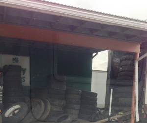 """The tire shop where I got my tire fixed. First words I heard from someone when I got there? """"You aren't from around here, are you."""" Note: that period is intentional. This was not a question."""
