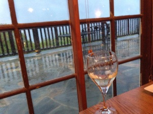 Problem Four: Rain. Things I love: having a glass of wine in a classic National Park lodge. Things I don't love: doing so prior to my return to a tent. Nothing about camping in the rain is fun, and don't let anyone suggest otherwise.