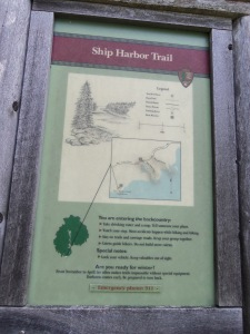 """Once I got the tent set up, Choppy and I headed out for a quick hike. The sign at the beginning of the trail warned """"You are entering the backcountry."""" Funny, I don't think of 4G service while I am in the backcountry. If I can order a pizza to the place, I'm going with it not being the backcountry."""