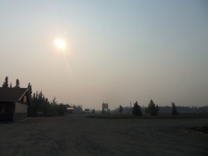 This was the view near our hotel in the morning. That's not fog obscuring the sun, it's smoke.  This is probably when most people would decide to stay here until nature is less likely to prove deadly. I'm not most people.