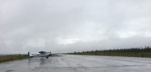 "There is a mostly two-lane highway between Anchorage and Fairbanks. This? This is a plane that had landed on that road presumably because of the weather. However, as this is Alaska, I am not ruling out ""because the pilot felt like it"" as the reason it landed on the road."
