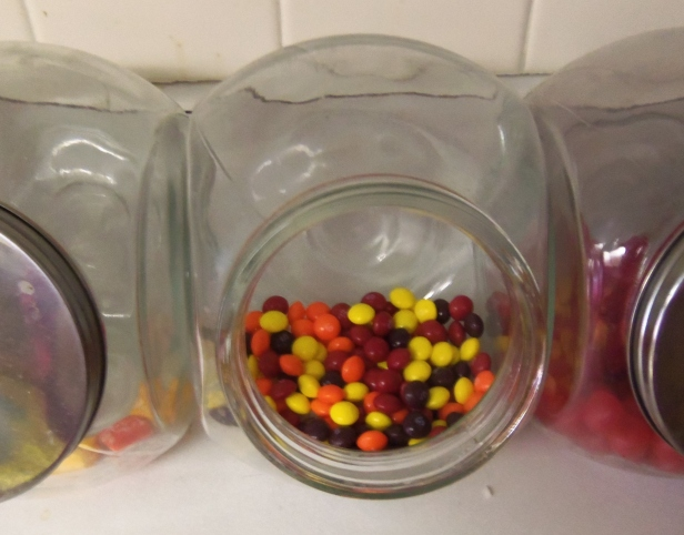 As I enjoyed a handful of Skittles in front of the television the other night, I discovered the horrible secret of the green Skittles. I promptly solved the problem by removing the offending Skittles from the jar.