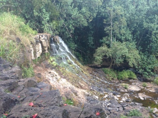 The other Ho'opi'i Falls. Bigger than the previous ones, but without the awesome ability to jump off of a rock into the water below.