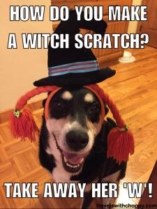 How to you make a witch scratch - take away her w