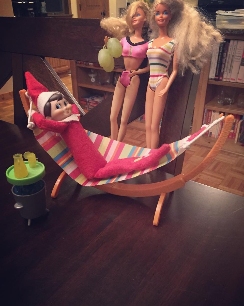 Elf on the Shelf: Living the Good Life