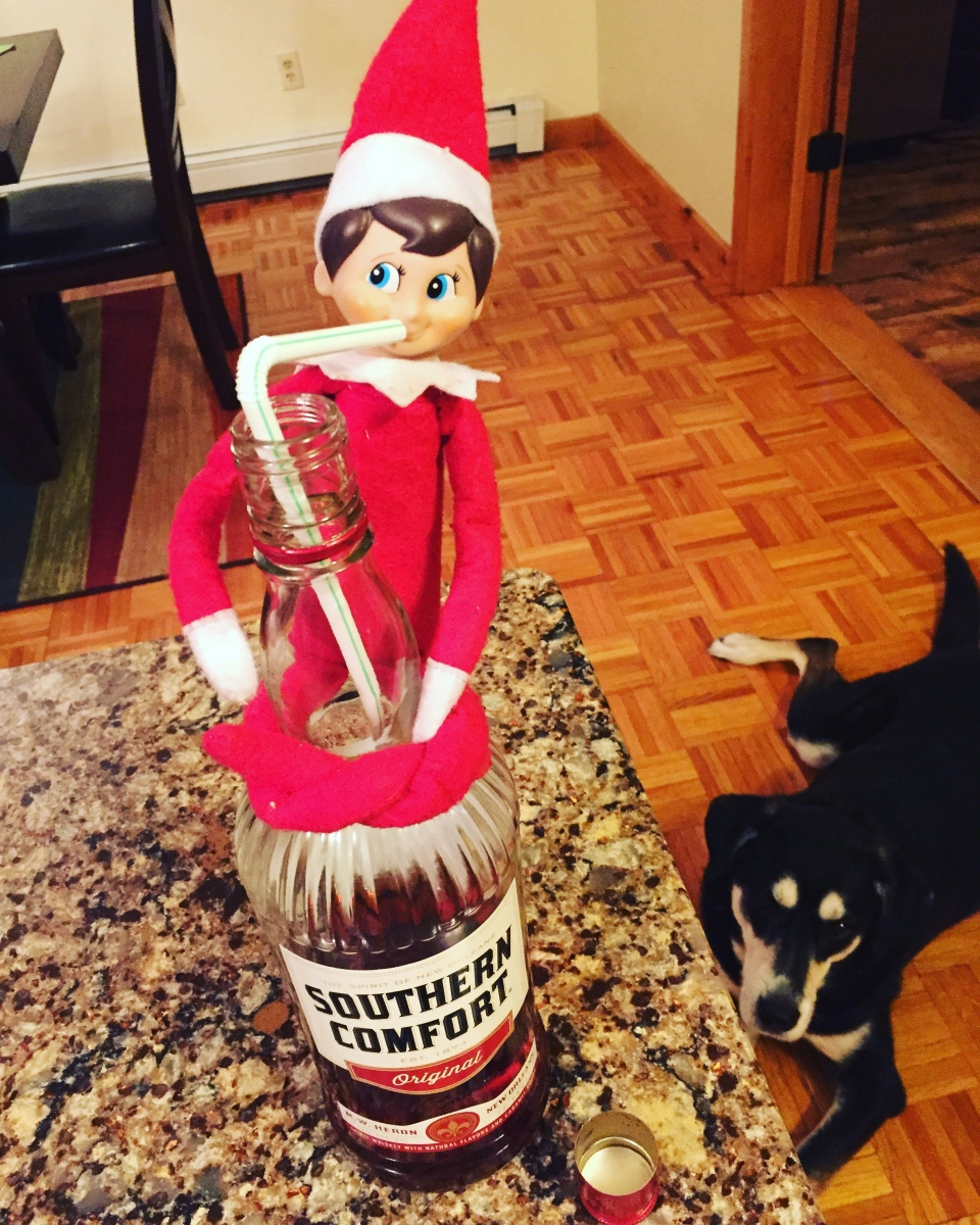 Elf on the Shelf: Liquor is Quicker
