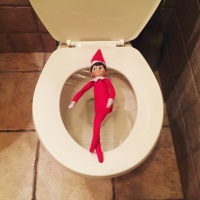 Elf on the Shelf: Toilet Lounge