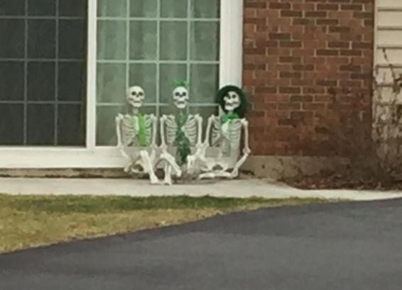 St. Patrick's Day Skeletons