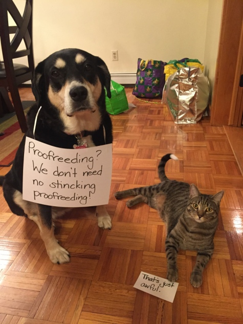 Proofreading Dog and Cat