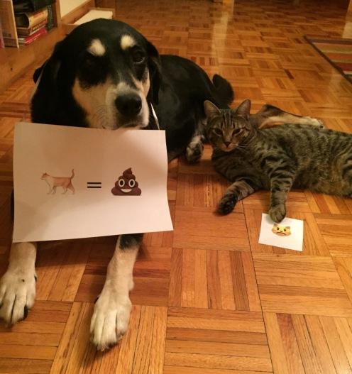 Emoji Cat and Dog